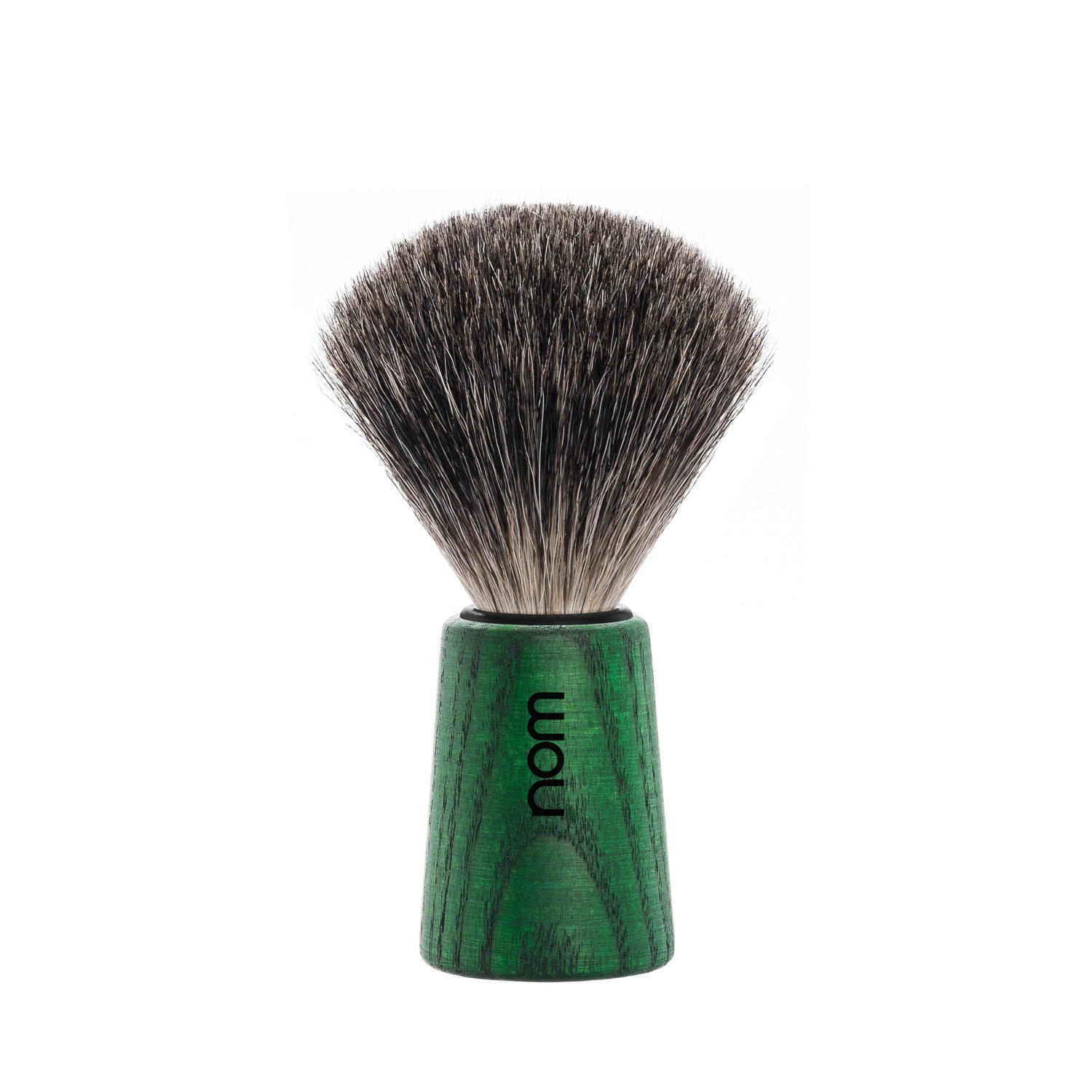 THEO81GA nom THEO, green ash, pure badger shaving brush