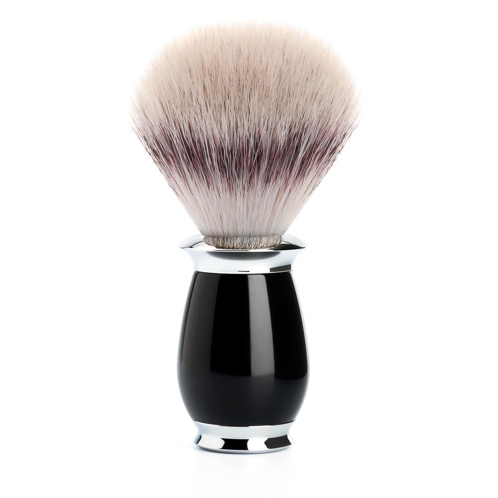 MUHLE PURIST Silvertip Fibre Shaving Brush in Black