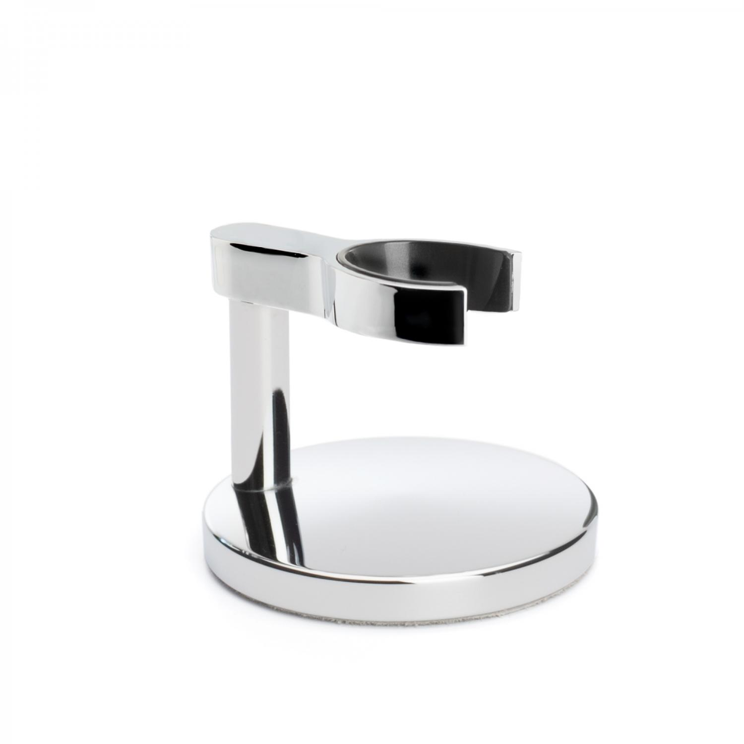 Chrome plated safety razor stand