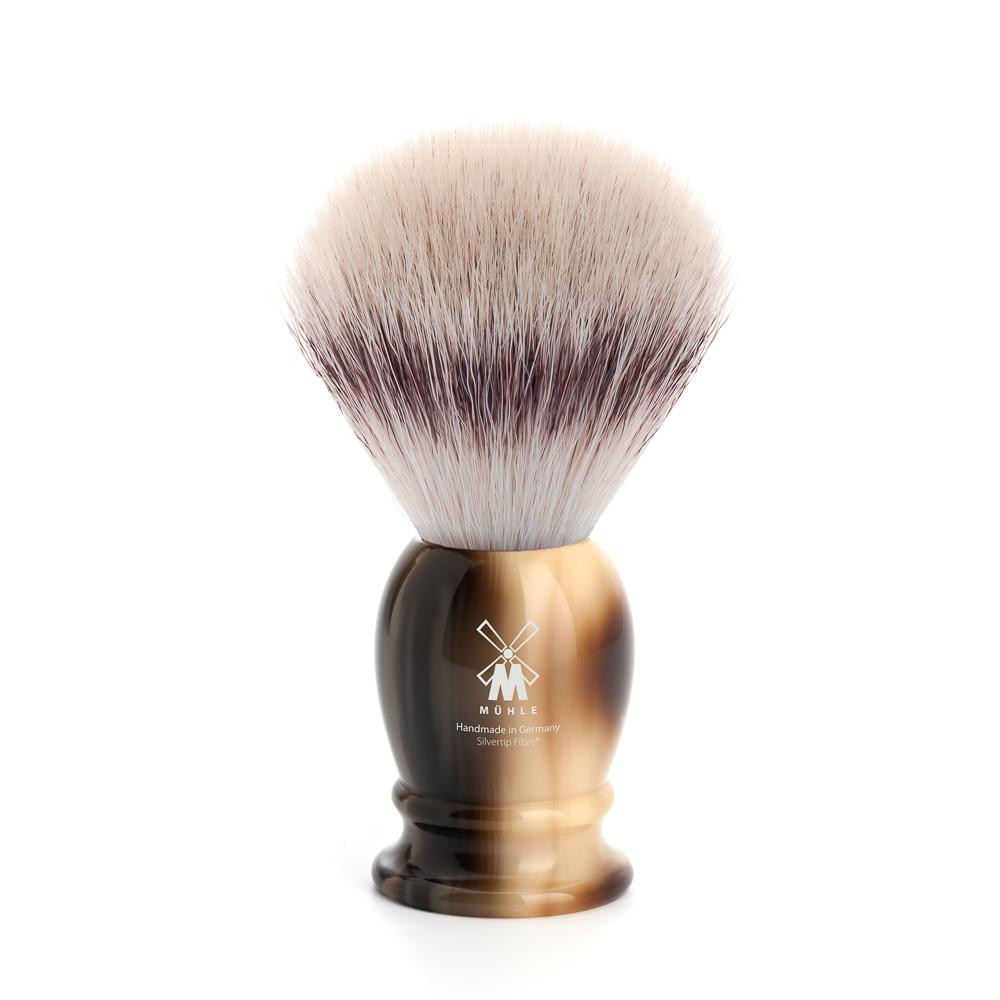 MUHLE Classic Medium Brown Horn Silvertip Fibre Shaving Brush - 31K252