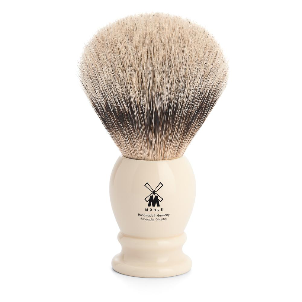 MUHLE Classic X-Large Faux Ivory Silvertip Badger Shaving Brush - 95K257