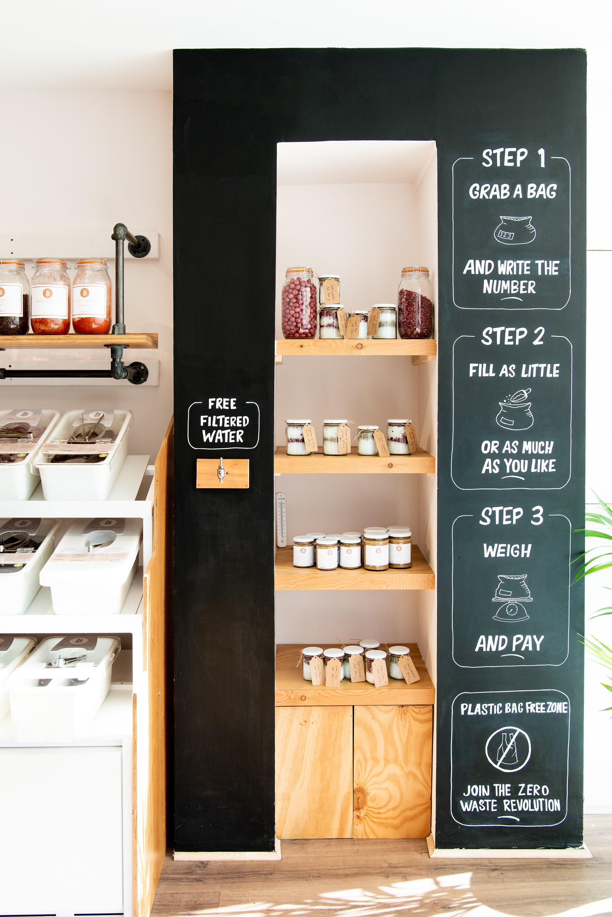 Refill and Instruction Station at The Source Bulk Foods Zero Waste Store