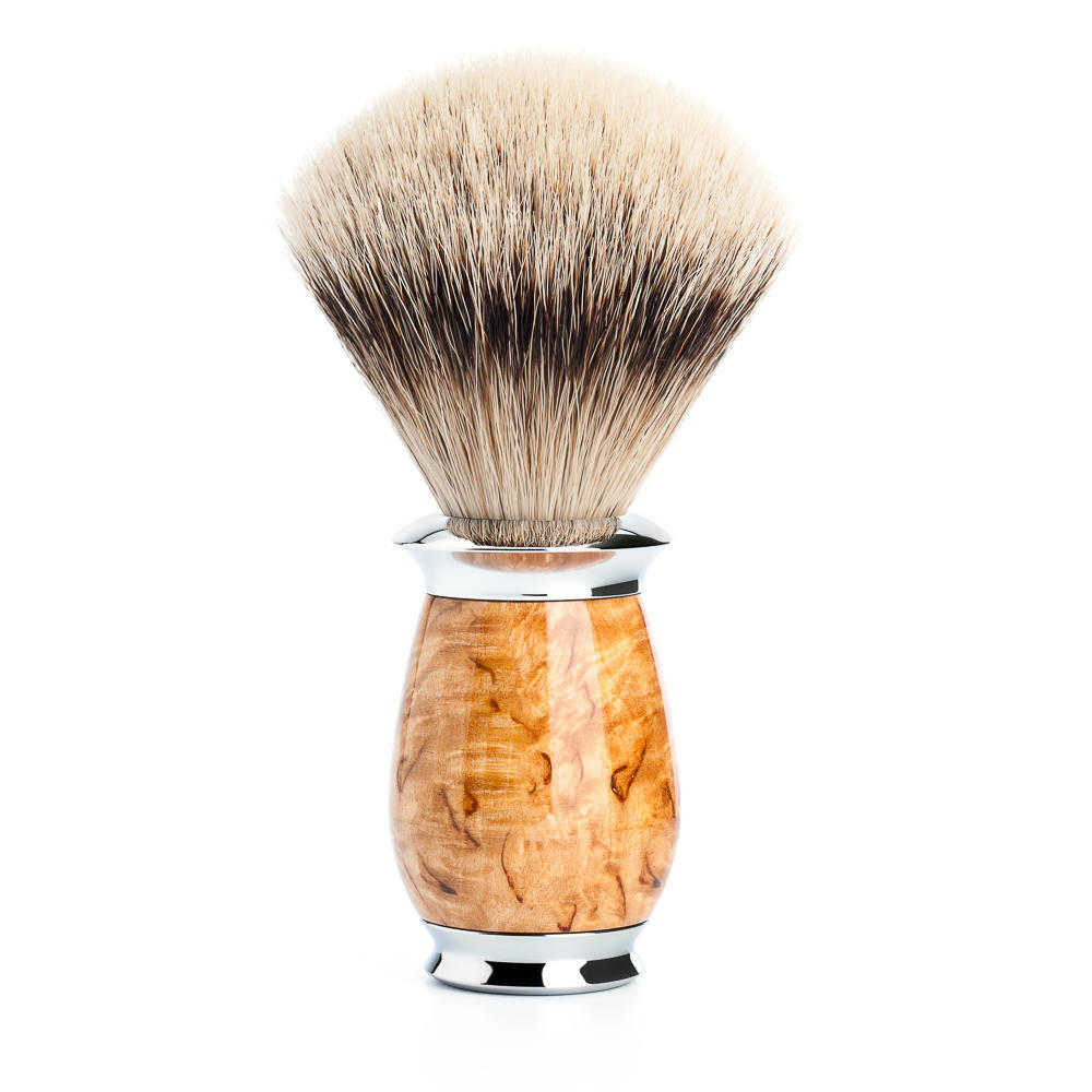 MUHLE PURIST Karelian Masur Birch Silvertip Badger Shaving Brush - 091H55