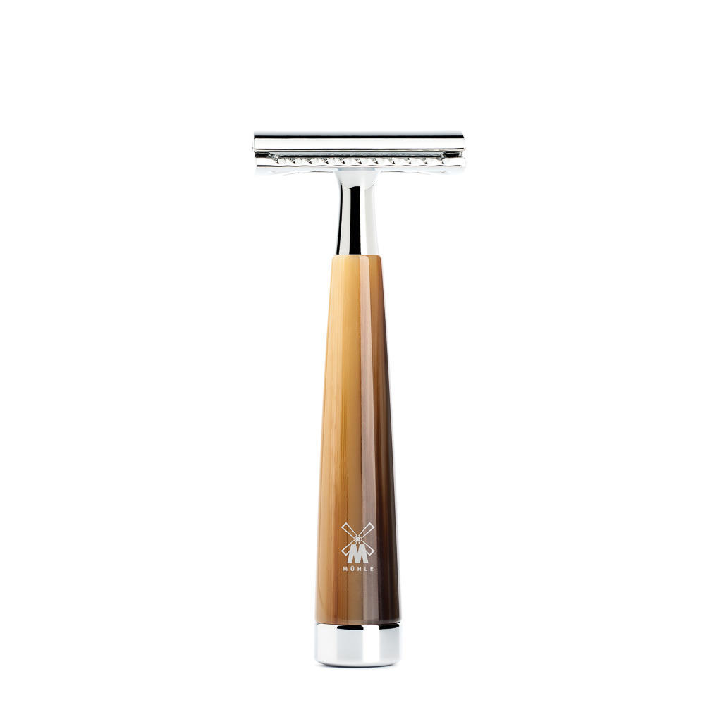 MUHLE LISCIO Brown Horn Resin Handle Safety Razor - R142SR