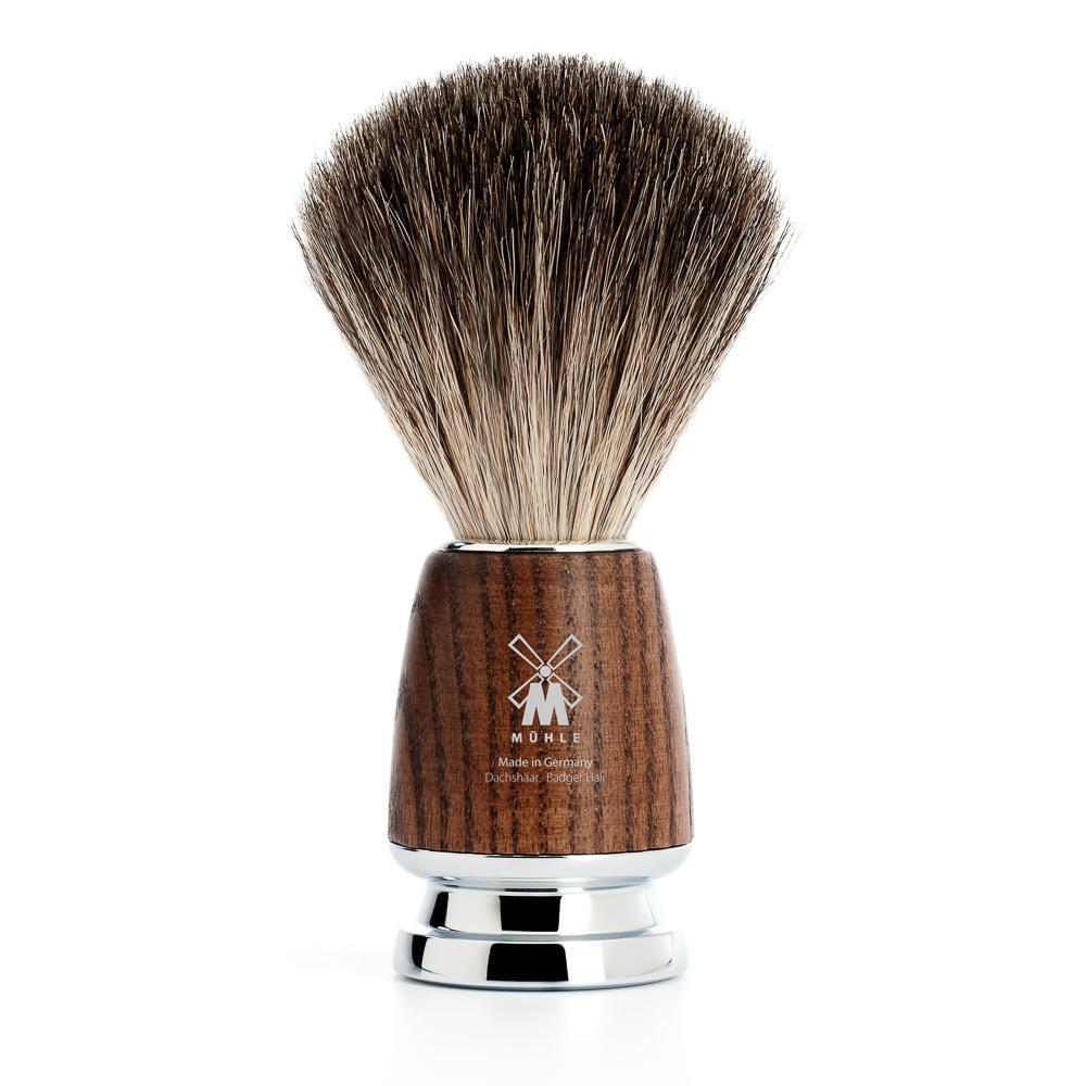 MUHLE RYTMO Steamed Ash Pure Badger Shaving Brush - 81H220