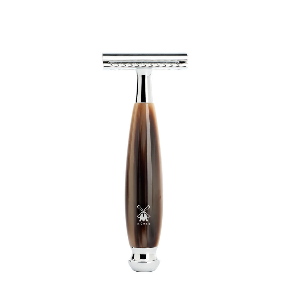 MUHLE VIVO Brown Horn Resin Safety Razor - R332SR