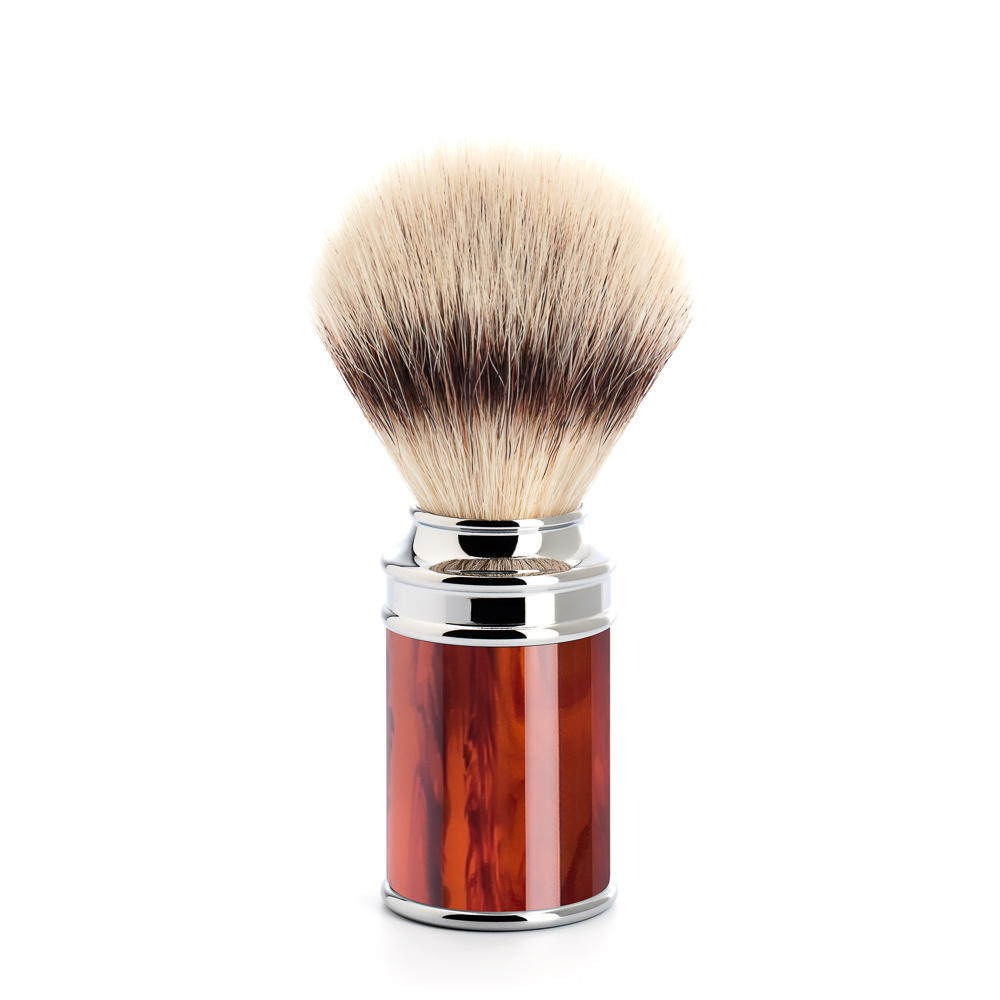 MUHLE TRADITIONAL Tortoiseshell and Chrome Silvertip Fibre Shaving Brush - 31M108
