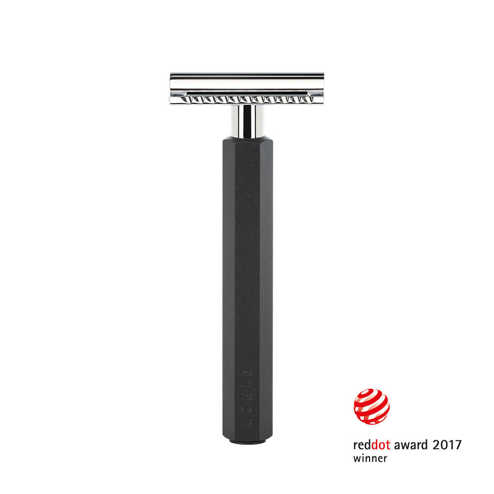 MUHLE HEXAGON Graphite Safety Razor - RHXGGRAPHITESR