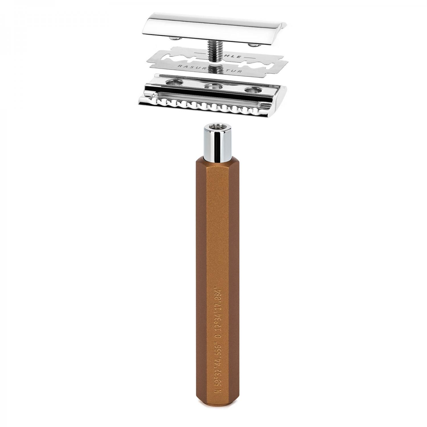 MUHLE HEXAGON Series Bronze Safety razor