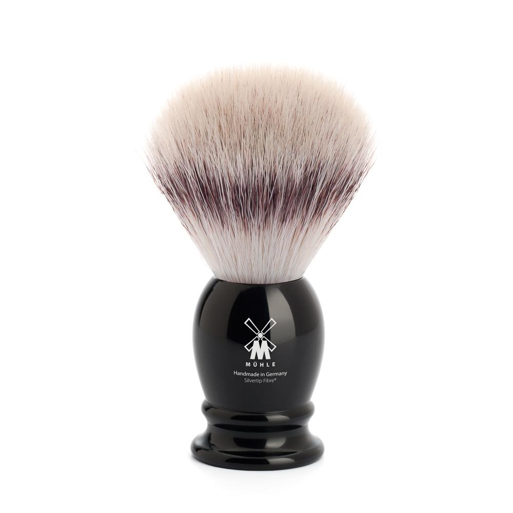 MUHLE Classic Medium Black Silvertip Fibre Shaving Brush - 31K256
