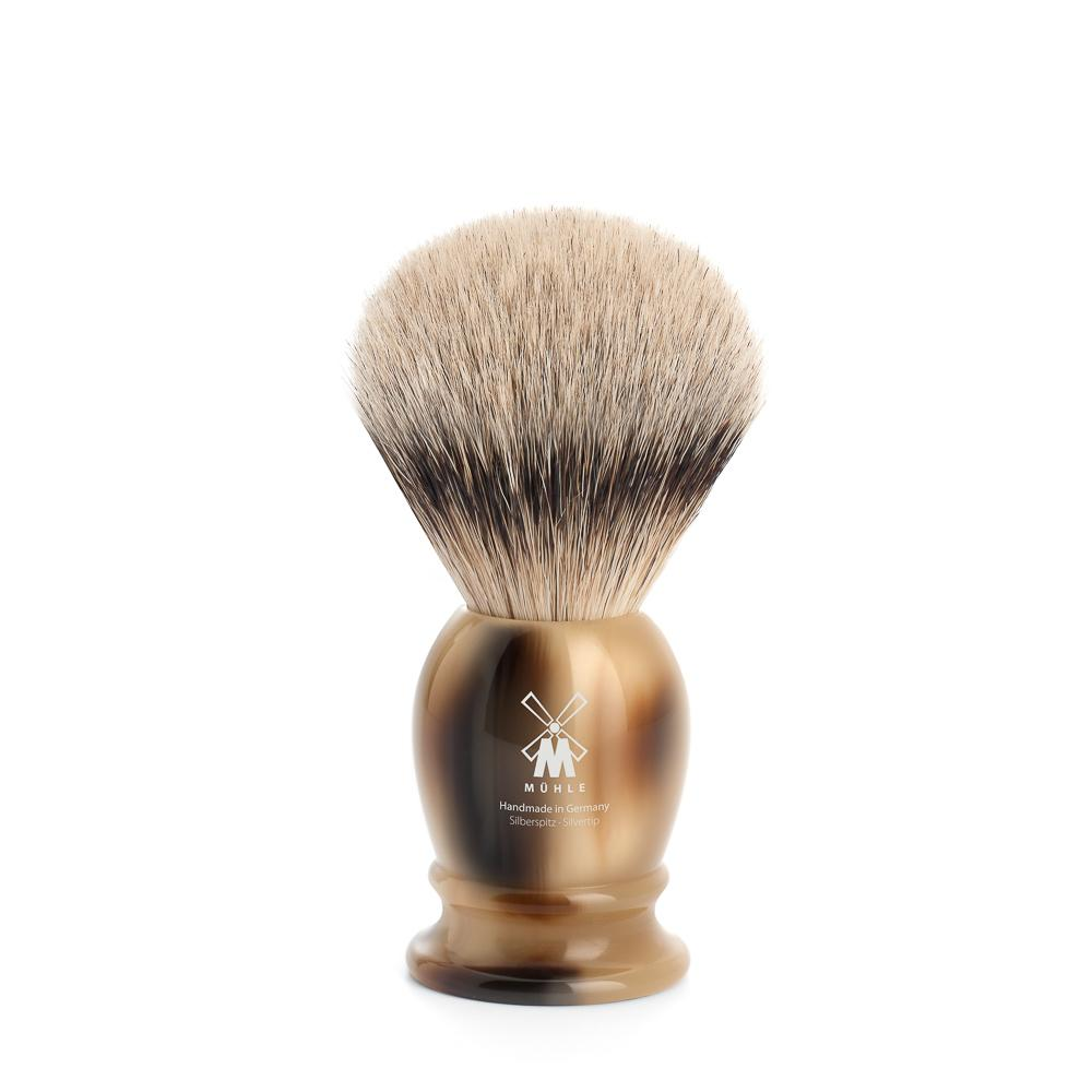 MUHLE Classic Small Brown Horn Silvertip Badger Shaving Brush - 099K252