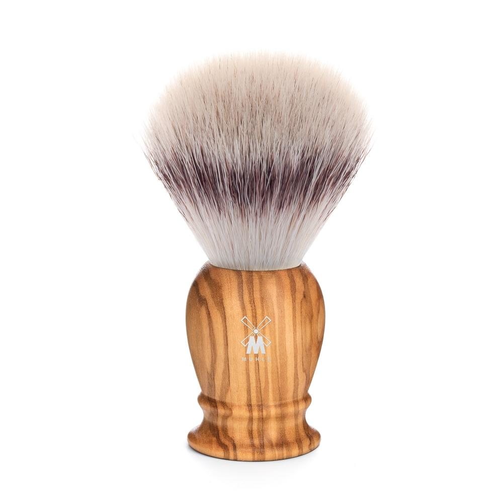 MÜHLE Classic Large Olive Wood Silvertip Fibre Shaving Brush