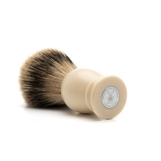 MUHLE Classic Large Faux Ivory Silvertip Badger Shaving Brush - 93K257