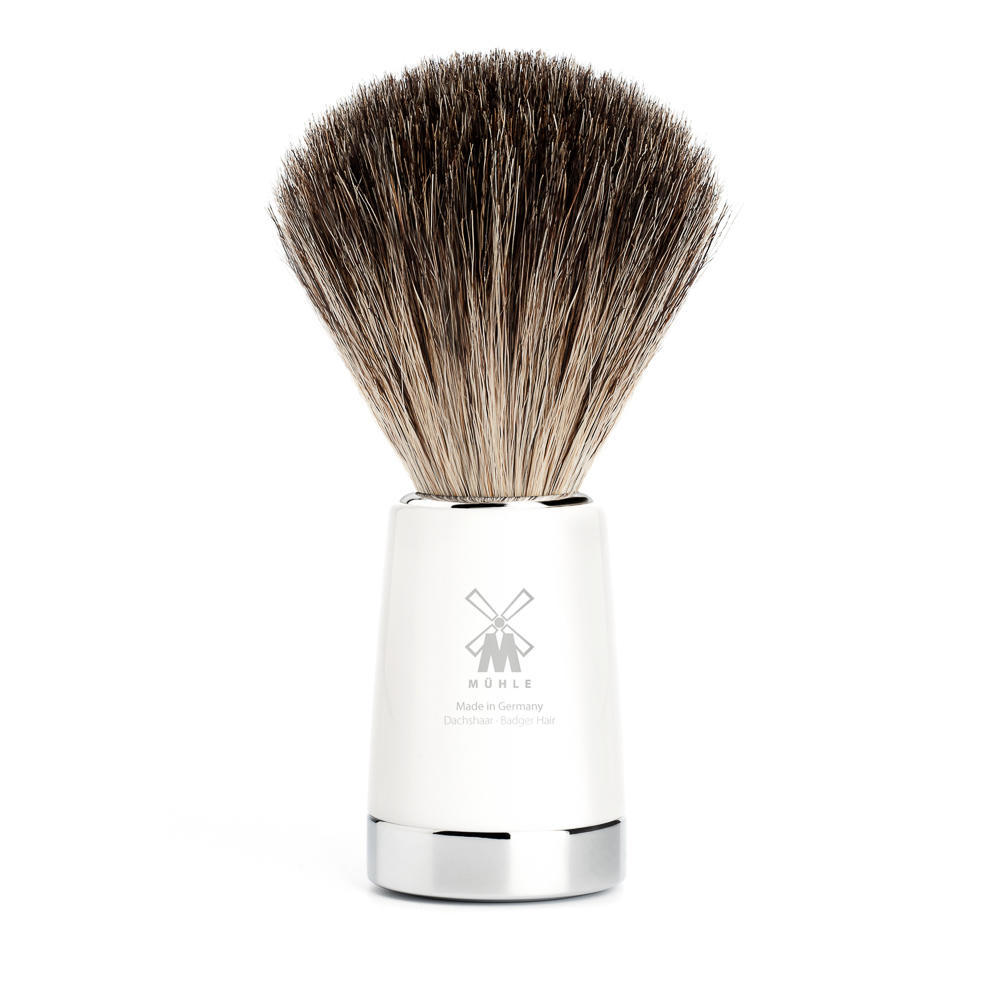 MUHLE LISCIO White  Pure Badger Shaving Brush - 81M147