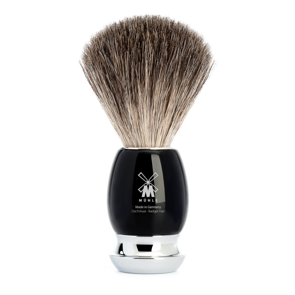MUHLE VIVO Black Resin Pure Badger Shaving Brush - 81M336