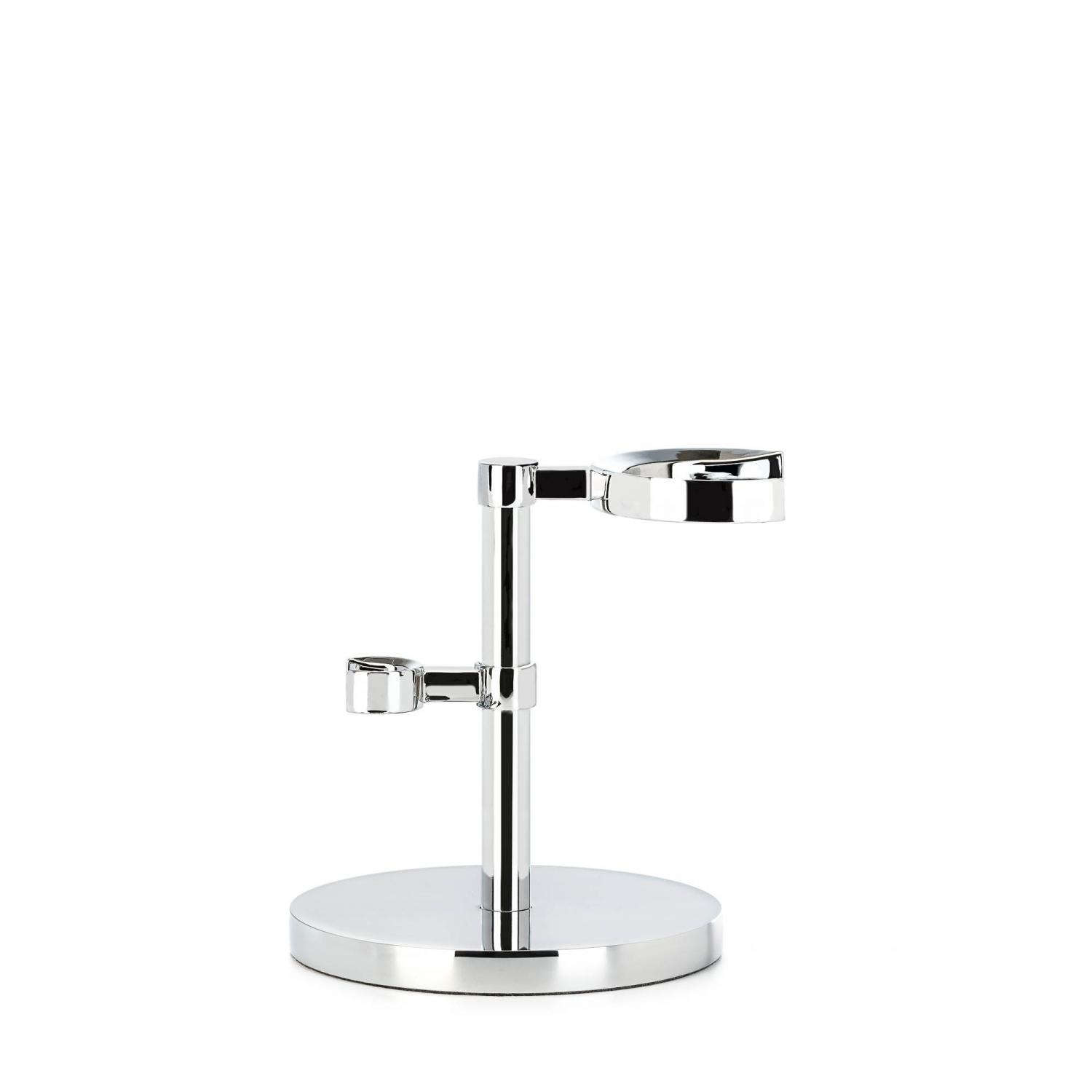 MUHLE Chrome HEXAGON Shaving Brush and Razor Stand - RHMHXG