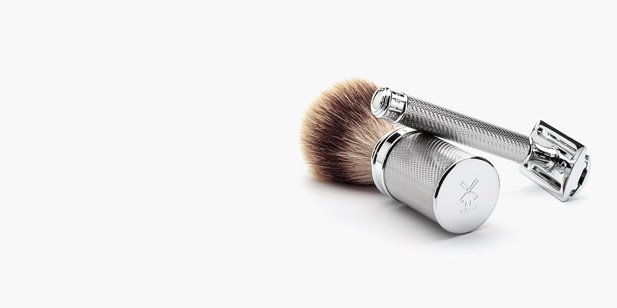 <h1>MÜHLE shaving culture made in Germany</h1><p>Our exclusive overall product range embraces brushes, razors, straight razors, care products such as shaving soaps and creams, as well as an innovative natural cosmetics series.</p><p>Each of our lovingly manufactured products is made from the very best materials and raw materials, produced in harmony with nature.</p><p>It is in exquisite accessories such as the silvertip badger shaving brush that the legend of the brand from the Erz Mountains has its origins. Today, the renowned premium brand is synonymous with rare craftsmanship and consummate design.</p><p>For the future of the cultivated wet shave.</p><p>Since 1945!</p>