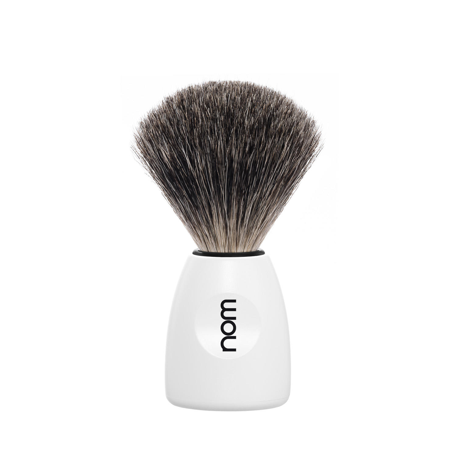 LASSE81WH NOM, LASSE white, pure badger shaving brush