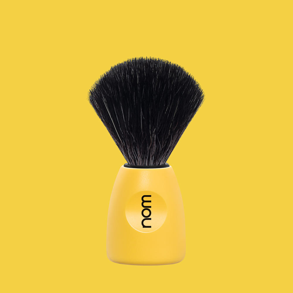 LASSE21LE NOM, LASSE Lemon, Black Fibre Shaving Brush