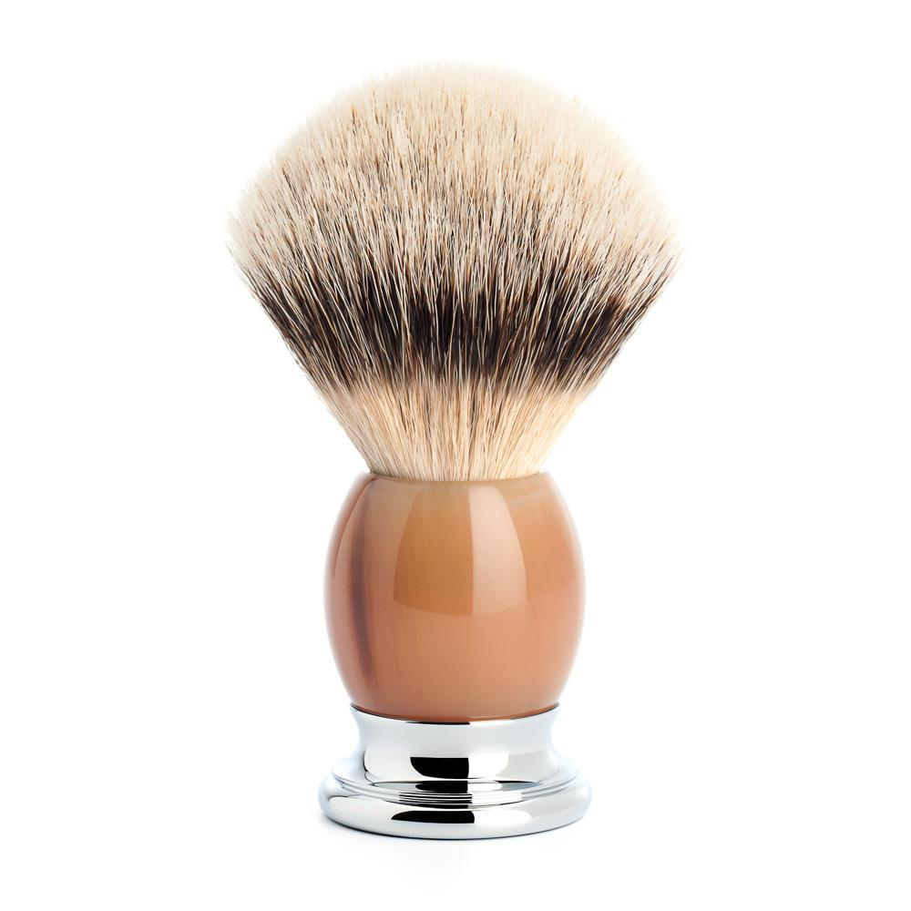 MUHLE SOPHIST Silvertip Shaving Brush in Horn
