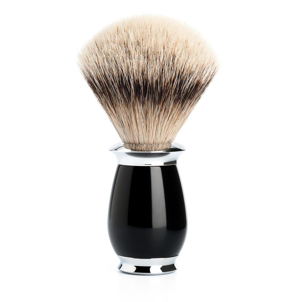 MUHLE PURIST Silvertip Badger Shaving Brush in Black