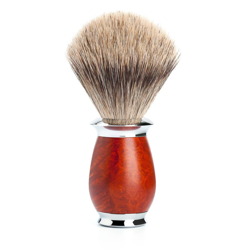 MUHLE PURIST Fine Badger Shaving Brush in Briar Wood