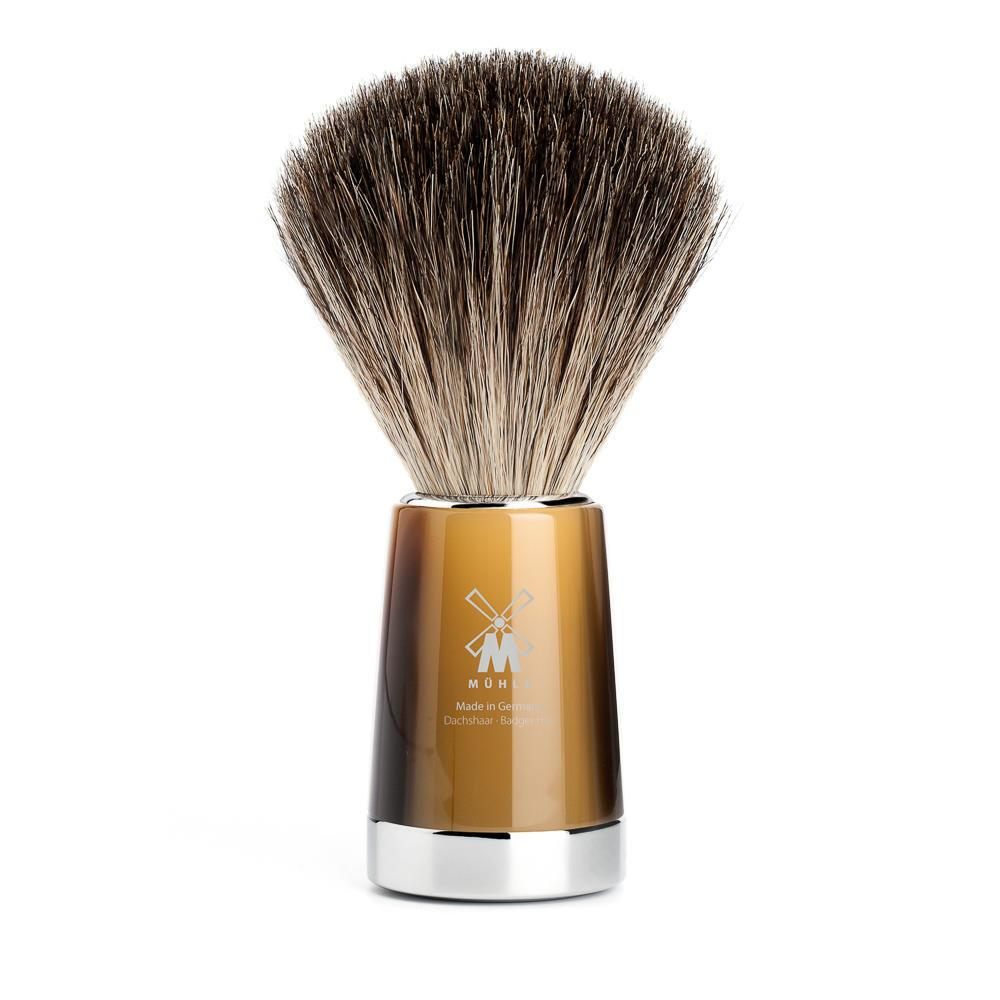 MUHLE LISCIO Brown Horn Pure Badger Shaving Brush