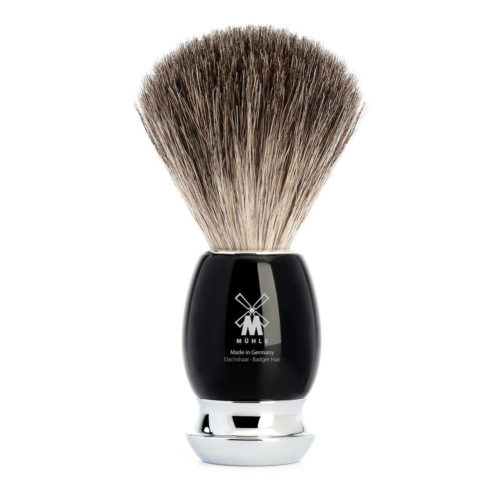 MUHLE VIVO Black Handle Pure Badger Shaving Brush
