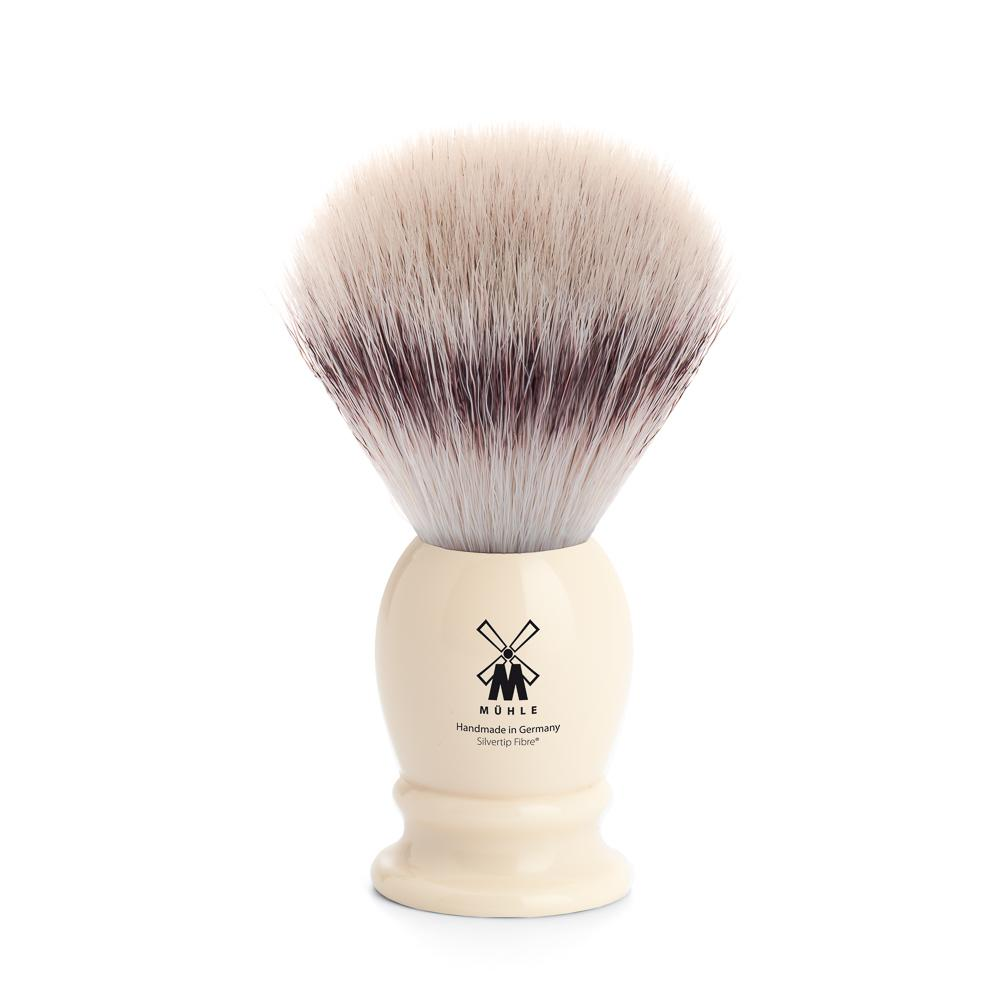 MUHLE Classic Medium Faux Ivory Silvertip Fibre Shaving Brush - 31K257