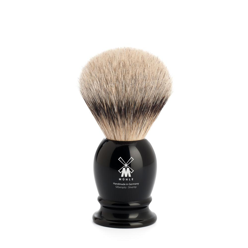 MUHLE Classic Small Black Silvertip Badger Shaving Brush - 099K256