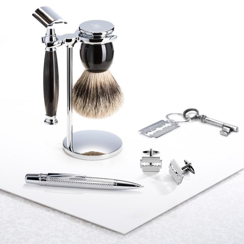 SOPHIST Horn Set with iconic promo MÜHLE cufflinks, keychain and pen
