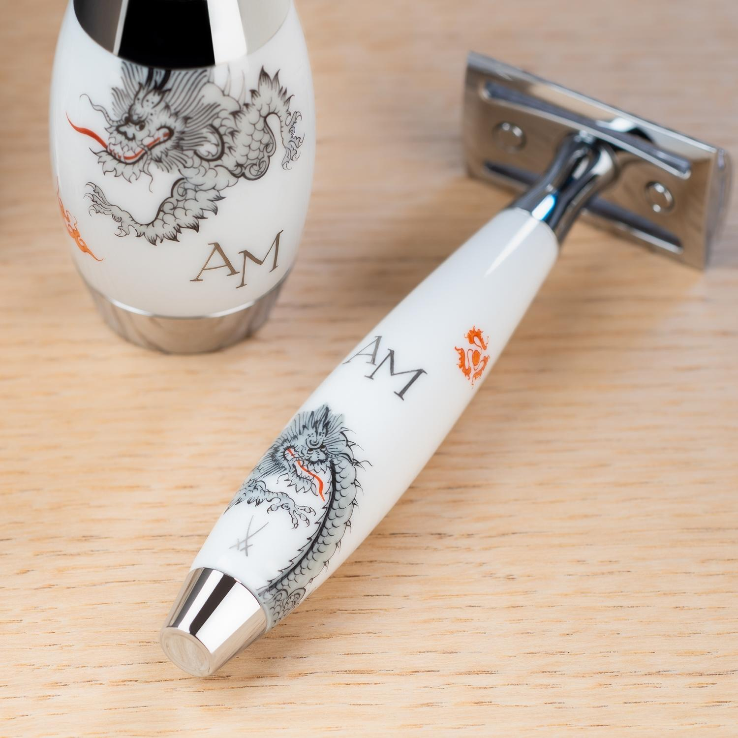 MÜHLE EDITION MEISSEN Safety Razor with personalised monogram