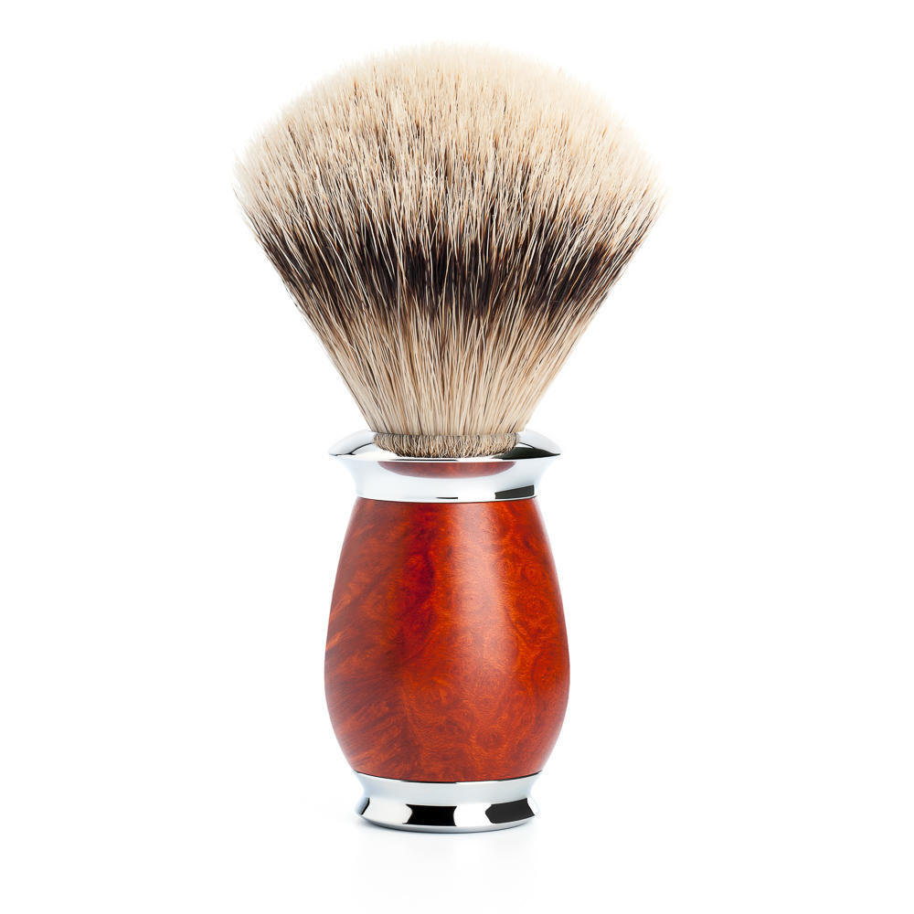 MUHLE PURIST Briar Wood Silvertip Badger Shaving Brush - 091H59