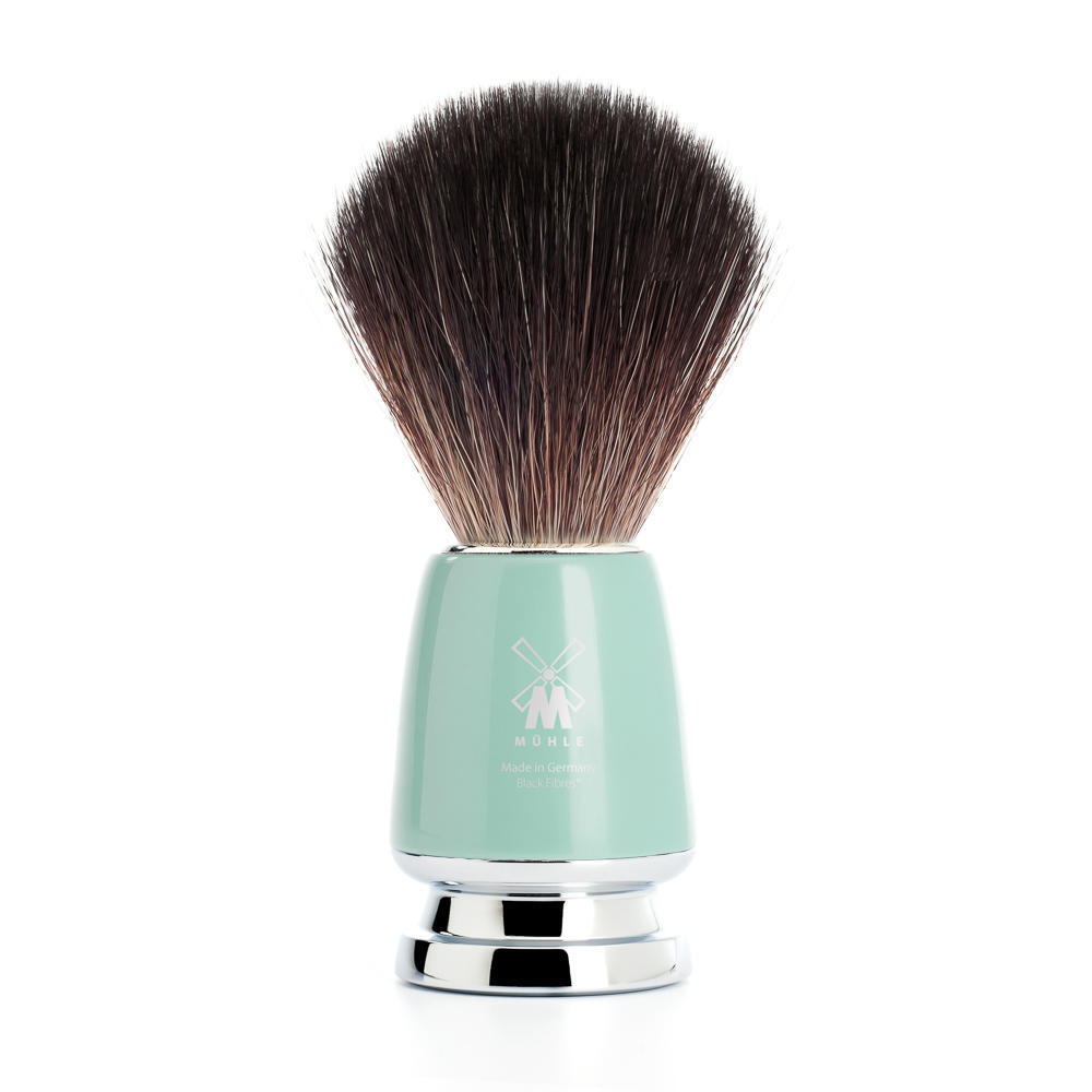 MUHLE RYTMO Mint Handle Black Fibre Shaving Brush - 21M224