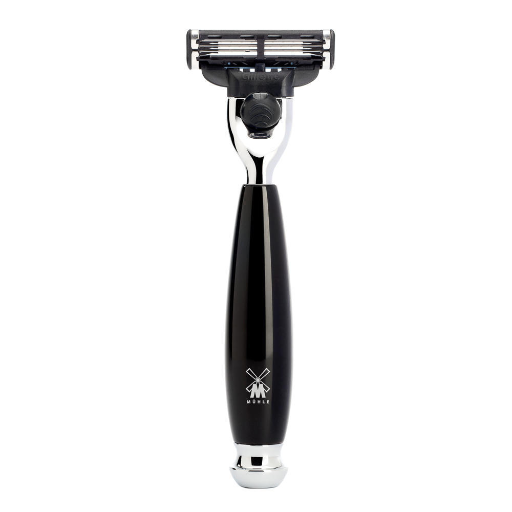 MUHLE VIVO Black Resin Mach3 Razor - R336M3