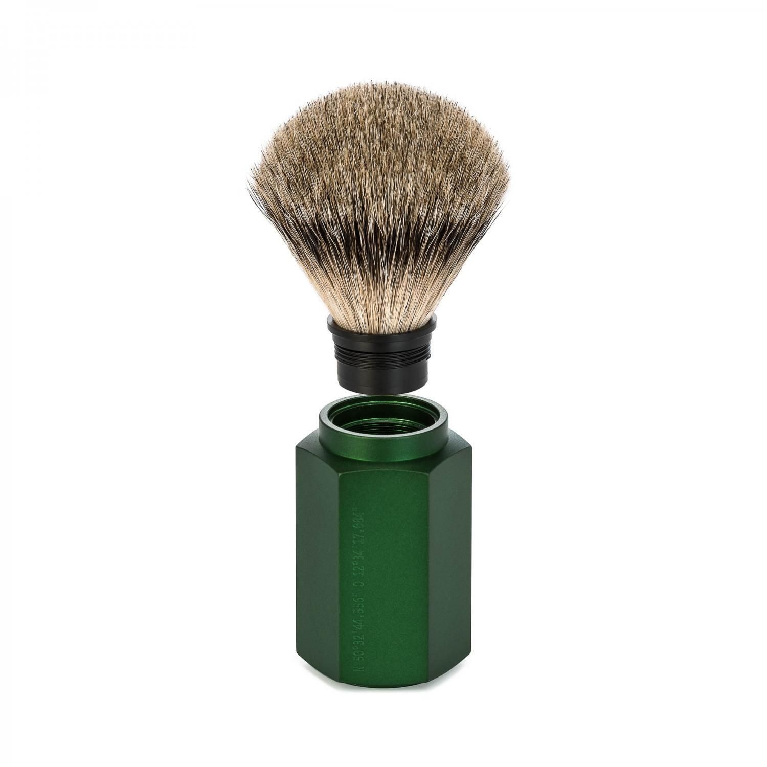 MUHLE HEXAGON Forest Silvertip Badger Shaving Brush