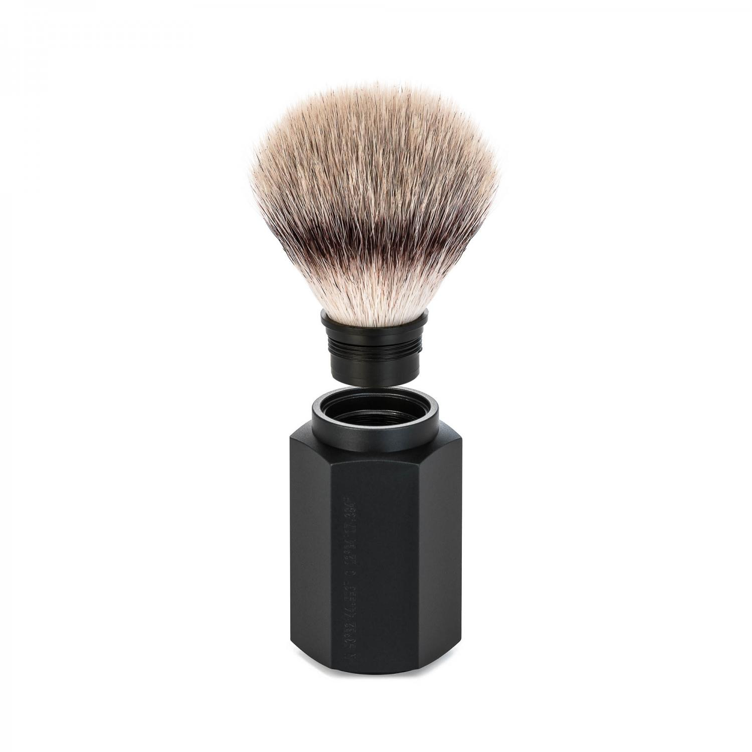 MUHLE HEXAGON Series Graphite Silvertip Fibre Brush