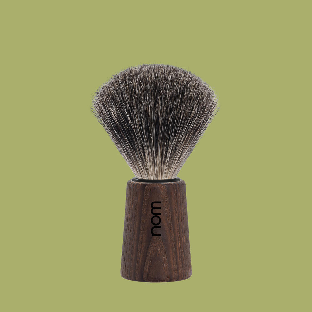 THEO81DA nom THEO, dark ash, pure badger shaving brush