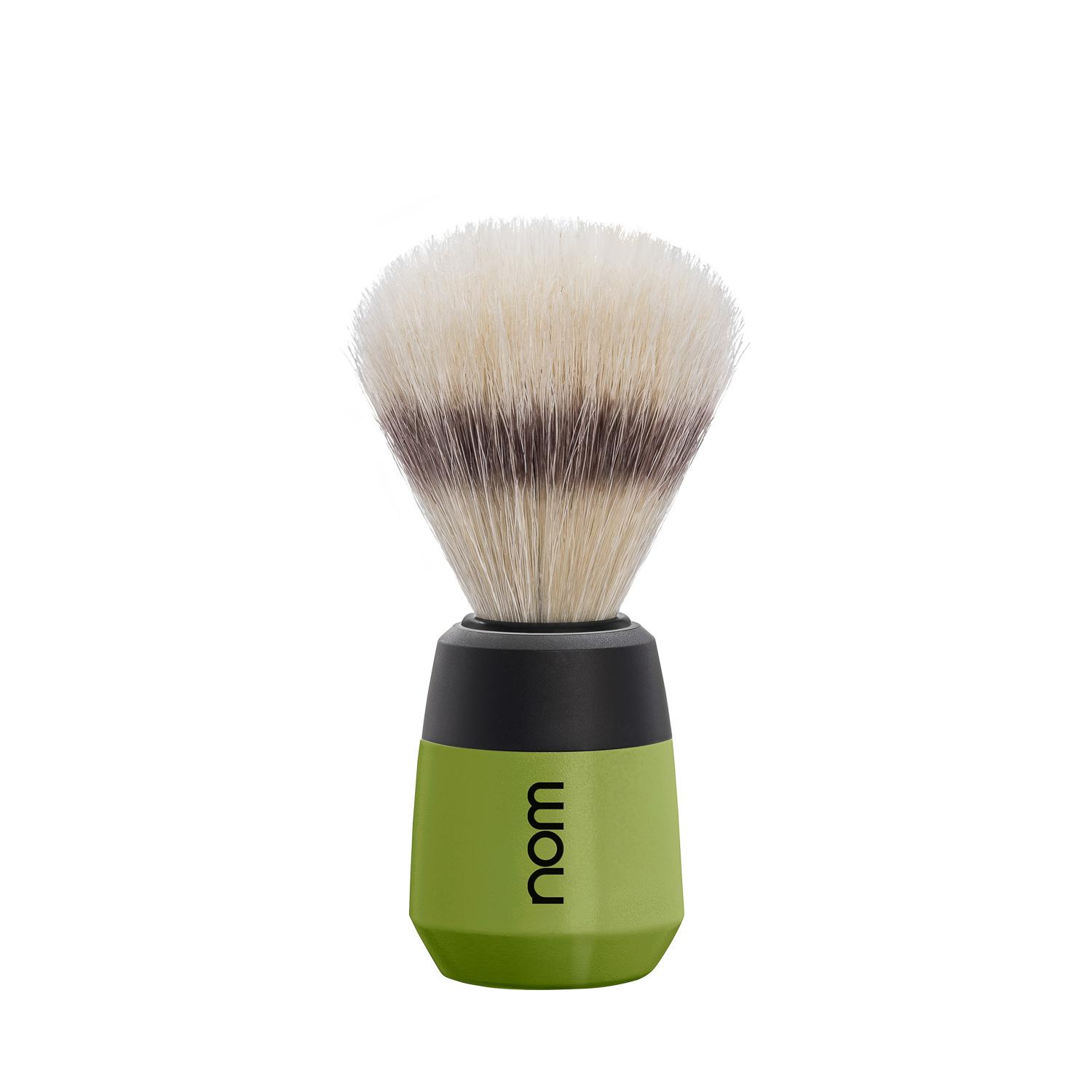 nom MAX, Olive, Natural Bristle Shaving Brush