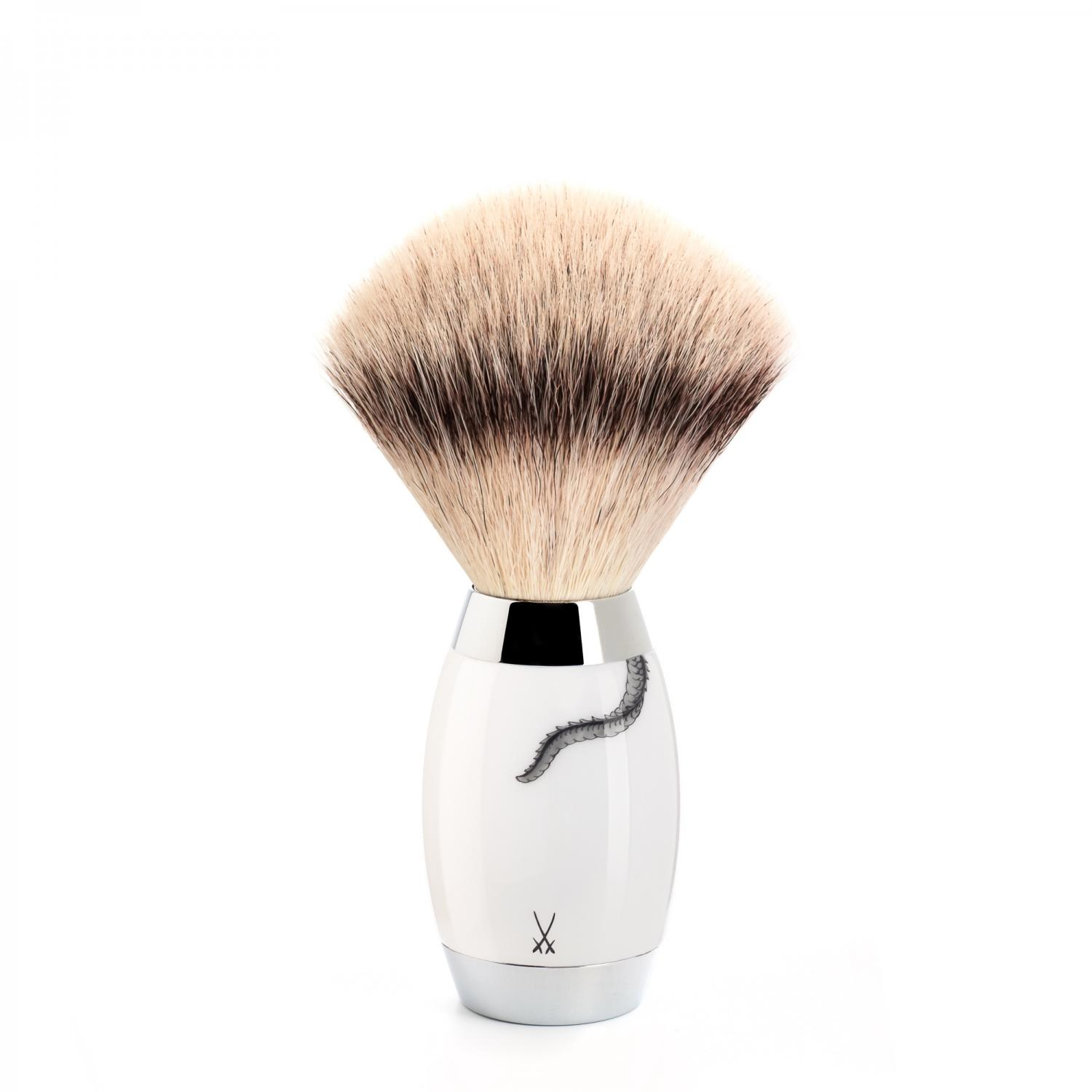 MUHLE Meissen Porcelain Safety Razor and Synthetic Fibre Shaving Set