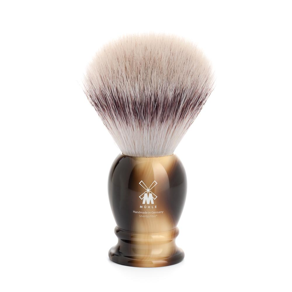 MUHLE Classic Large Brown Horn Silvertip Fibre Shaving Brush - 33K252