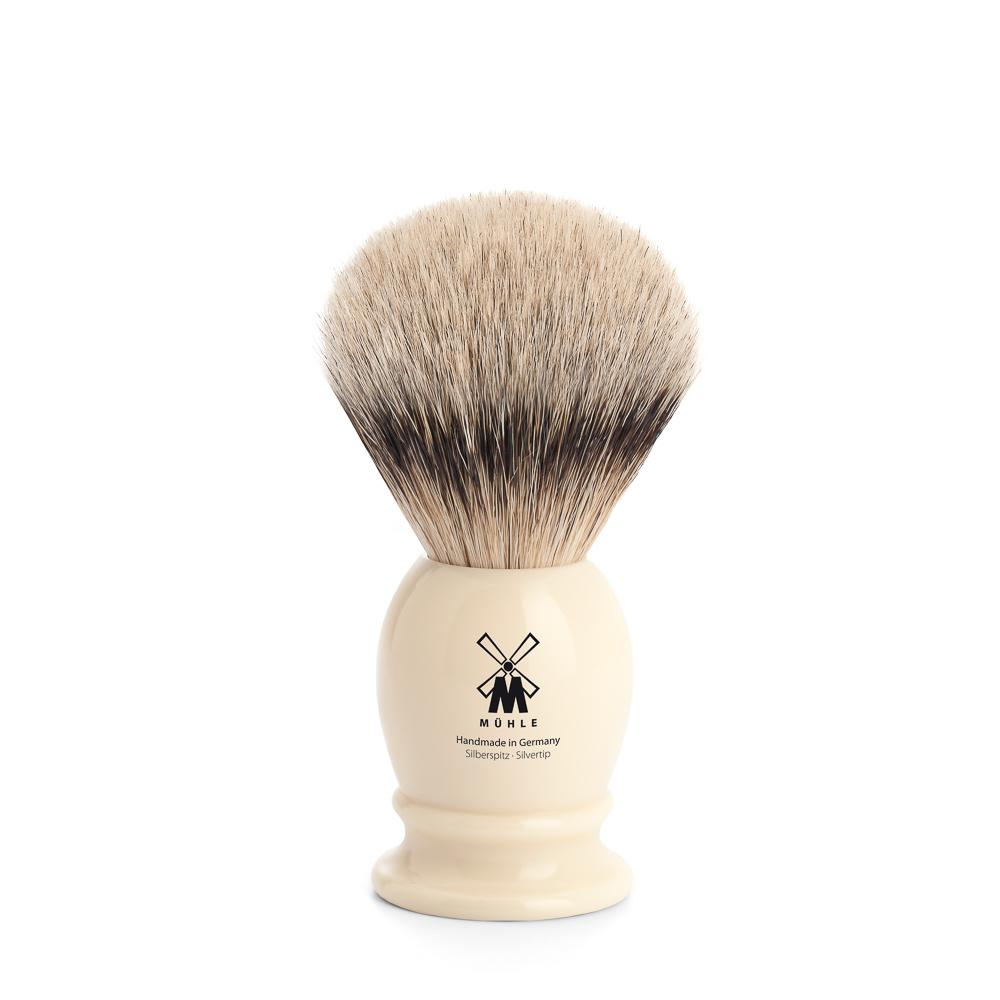 MUHLE Classic Small Faux Ivory Silvertip Badger Shaving Brush - 099K257