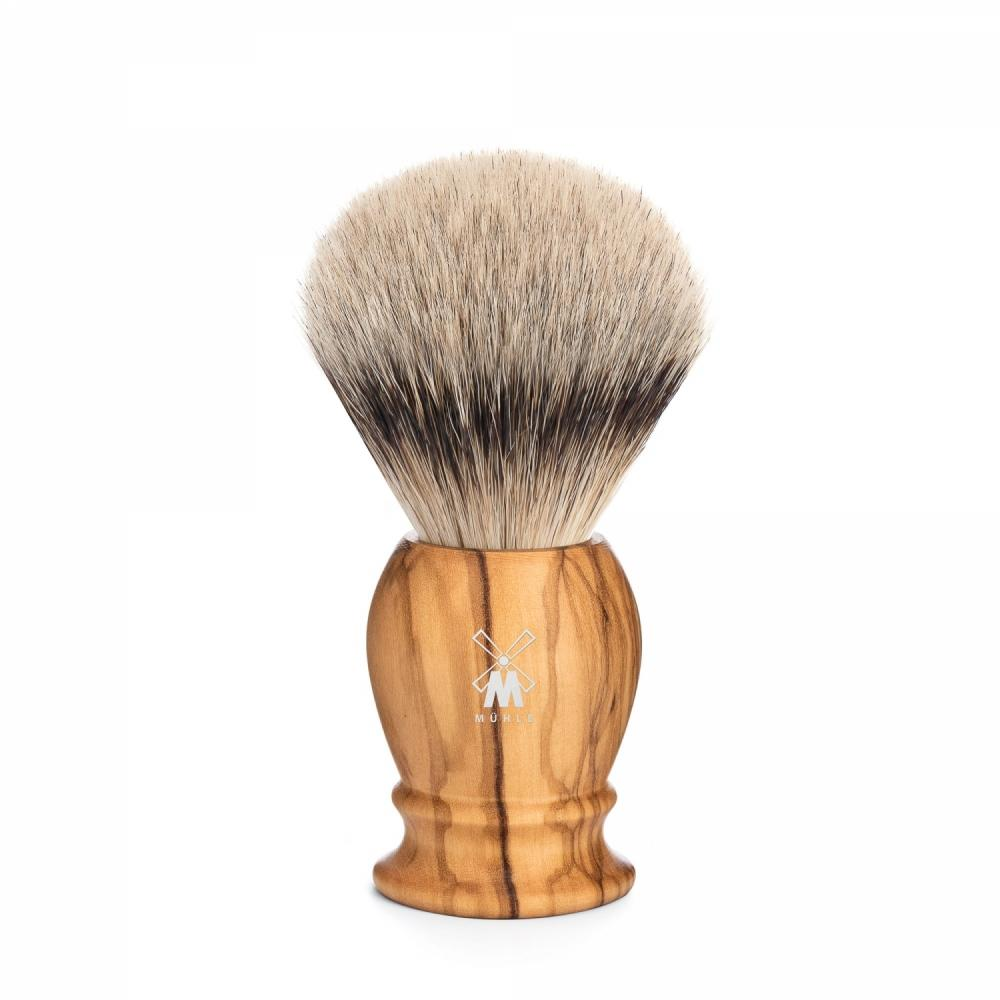 MÜHLE Classic Medium Olive Wood Silvertip Badger Shaving Brush