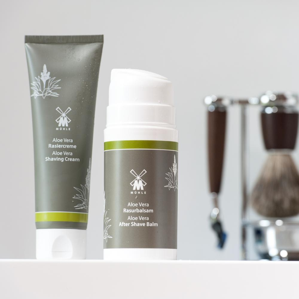 The Aloe Vera Shaving Cream and Aftershave Balm by MÜHLE