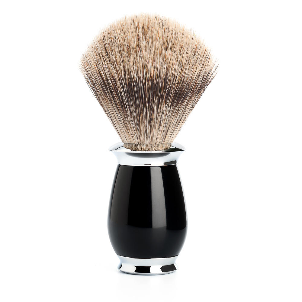 MUHLE PURIST Black Fine Badger Shaving Brush - 281K56
