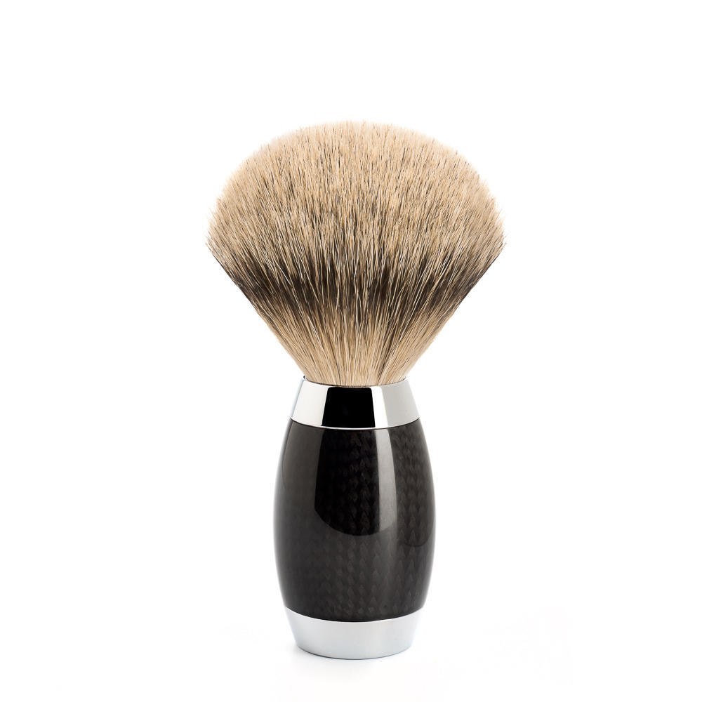 MUHLE EDITION No. 1 Carbon Fibre, Silvertip Badger Shaving Brush - 493ED1