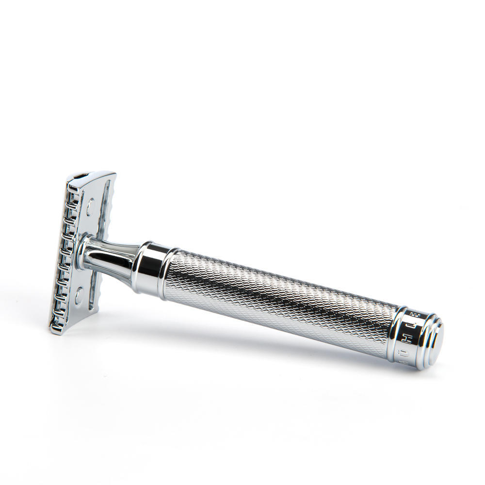 MUHLE TRADITIONAL Large Chrome Open Comb Safety Razor - R41GRANDE