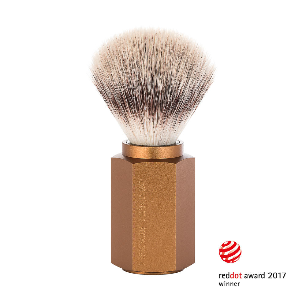 MUHLE HEXAGON Bronze Silvertip Fibre Shaving Brush - 31MHXGBRONZE