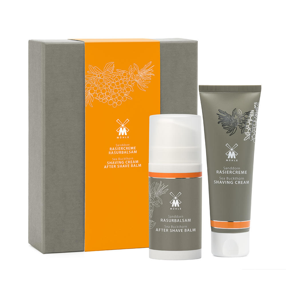MUHLE SHAVE CARE Sea Buckthorn Set Incl. Shaving Cream and Aftershave Balm - MPSSD