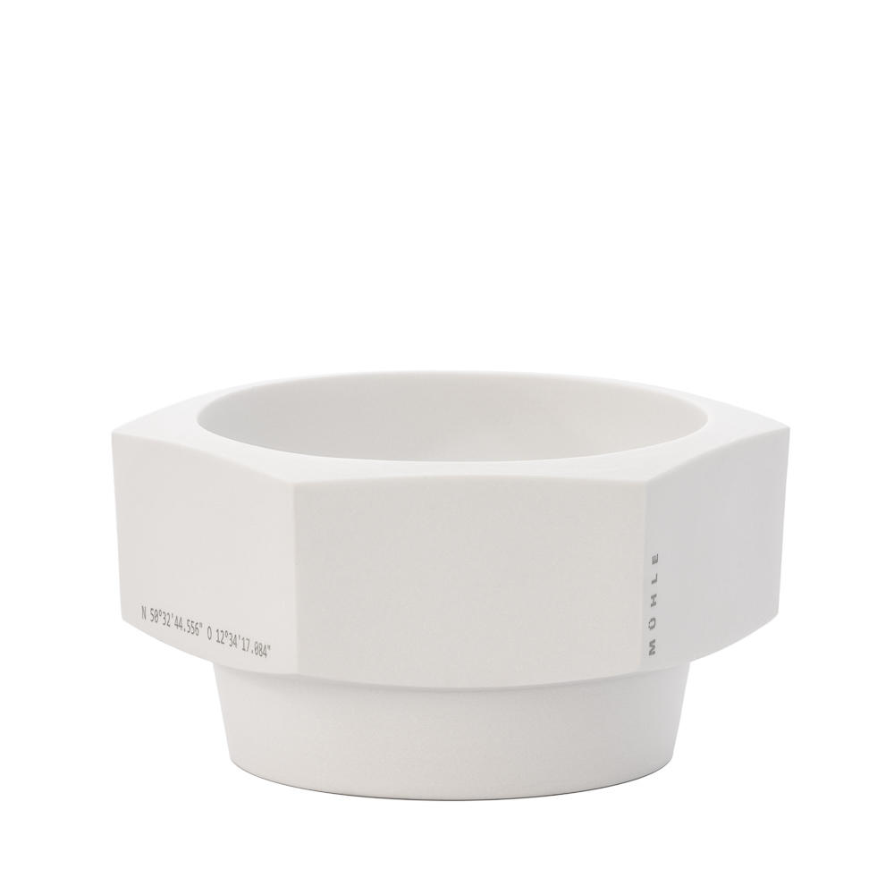 MÜHLE HEXAGON White Porcelain Shaving bowl from by Mark Braun
